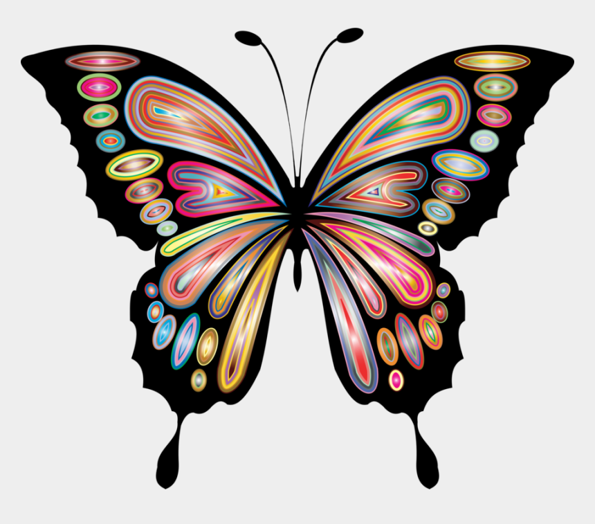 blue butterfly clip art, Cartoons - Butterfly Blue Purple Swallowtails Drawing - Yellow And Red Butterfly