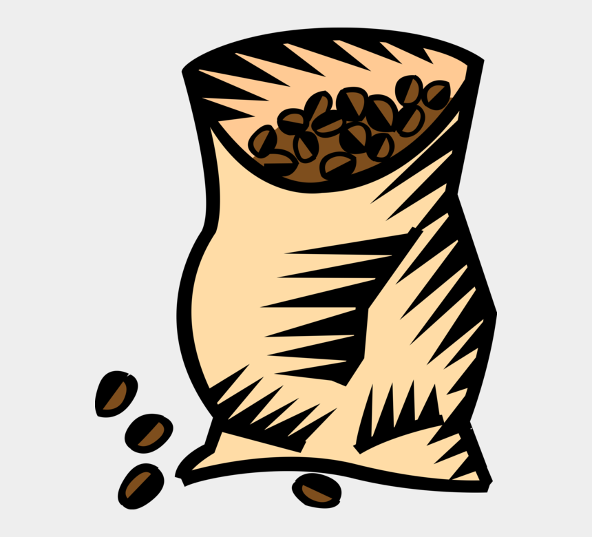 Vector Illustration Of Bag Of Coffee Bean Seed Of The Transparent Coffee Beans Cartoon Cliparts Cartoons Jing Fm