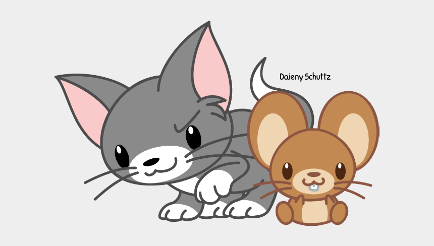tom and jerry clip art, Cartoons - Tom Drawing And Jerry - Tom Y Jerry Kawaii