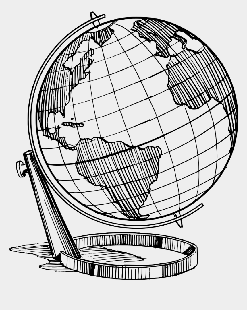 globe black and white clipart, Cartoons - Clip Art Line Art Earth Free - Globe Earth Drawing