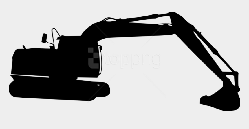 backhoe clipart black and white, Cartoons - Free Png Excavator Silhouette Png Images Transparent - Transparent Excavator Silhouette