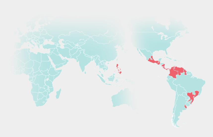 ocean border clip art, Cartoons - Png On World Map - Latin American Social Sciences Institute