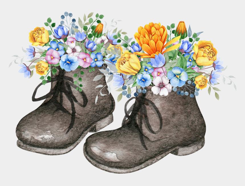combat boot clip art, Cartoons - Shoe