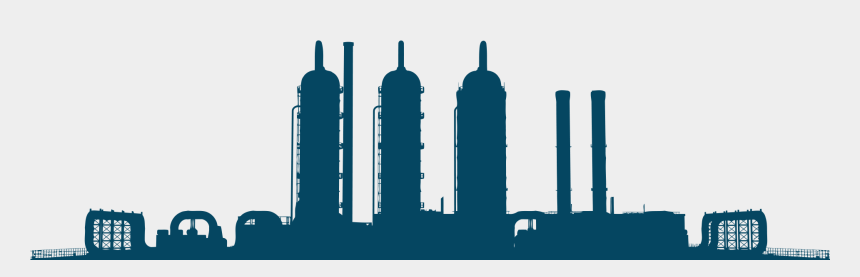 propane tank clip art, Cartoons - Silhouette Industrial Plant