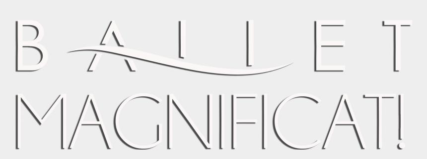ballet clip art black and white, Cartoons - Ballet Magnificat Logo Png