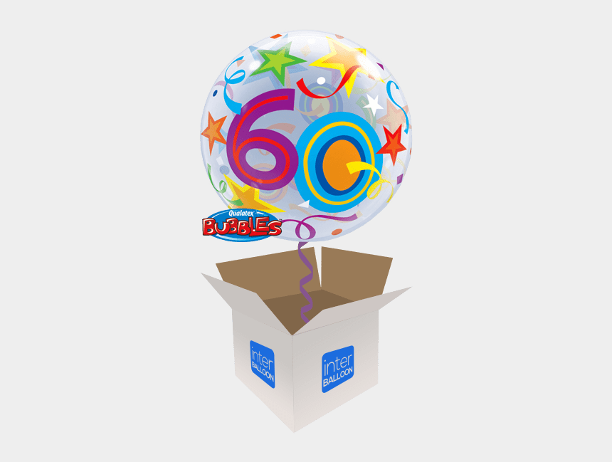 free 60th birthday clip art, Cartoons - 22″ Brilliant Stars 60 Bubble - 60th Blue And Silver Balloon