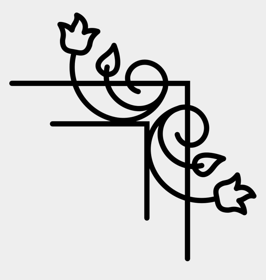 flower vines clip art, Cartoons - Flower Vines And Leaves Right Border - Bordes De Esquinas Png