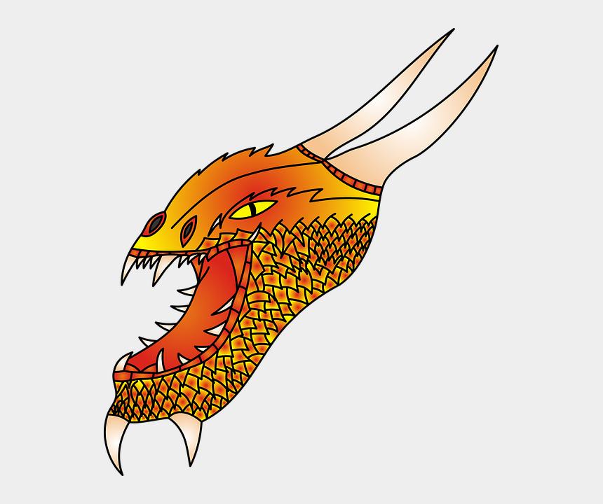 dragon head clip art, Cartoons - Dragon, No Background, The Head Of The, Monster - Dragon Head No Background