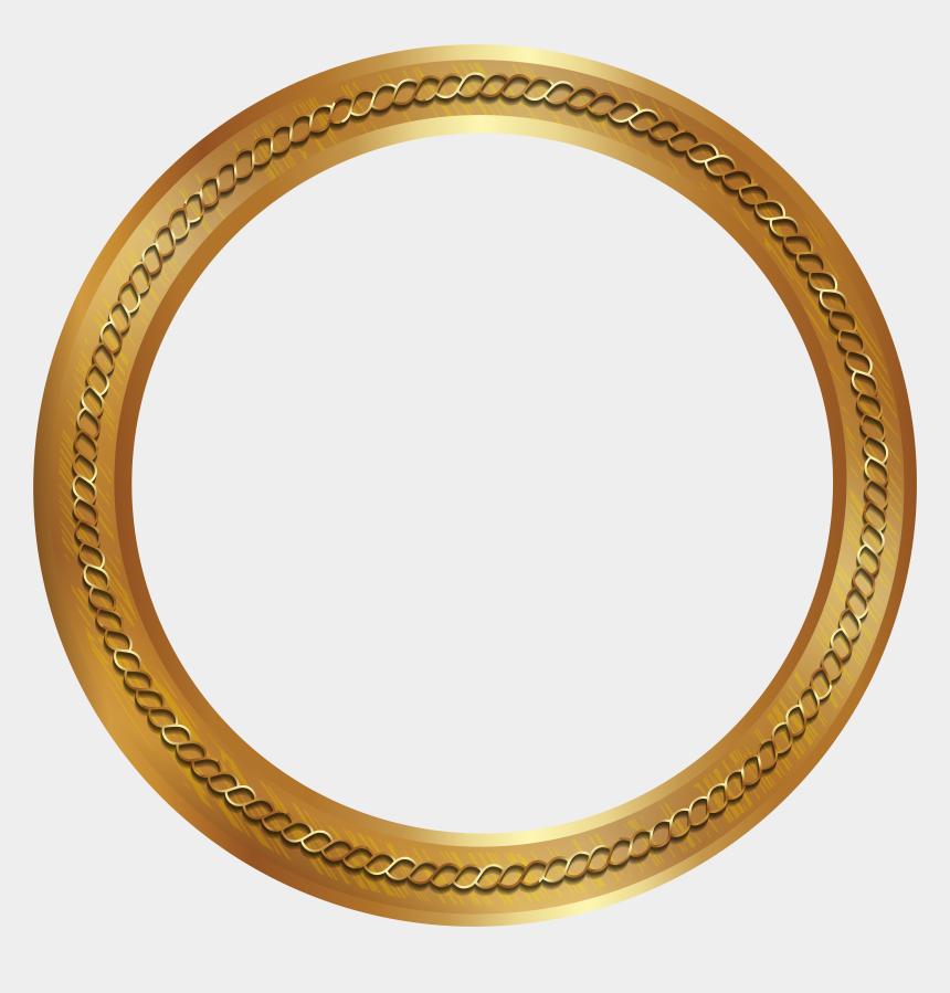 gold frame clip art, Cartoons - Gold Frame Border Round Png Clip Art Image, Transparent