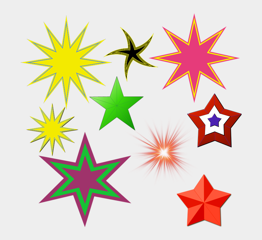 shining star clip art, Cartoons - Stars, Design, Glowing, Shining, Pointed, Various - Spur Rowel