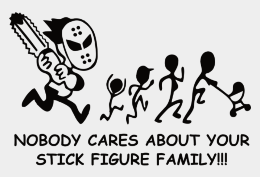 stick figure clip art black and white, Cartoons - Stick Figure Family Running