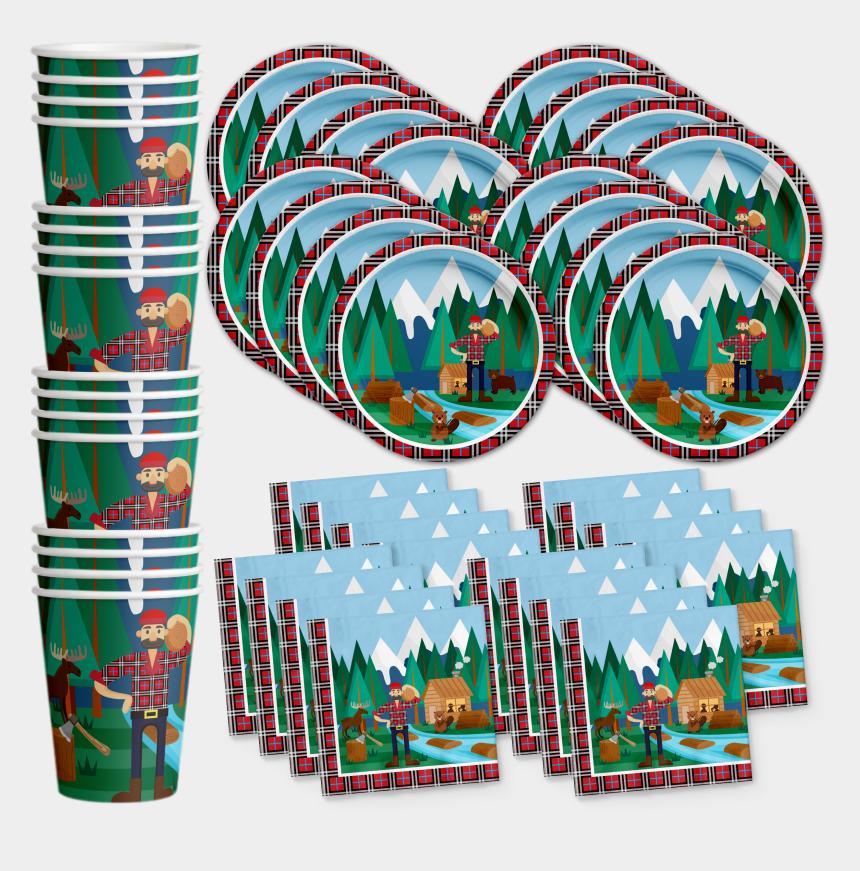 lumberjack clip art, Cartoons - Lumberjack Birthday Party Tableware Kit For 16 Guests - Party City Monster Balloons