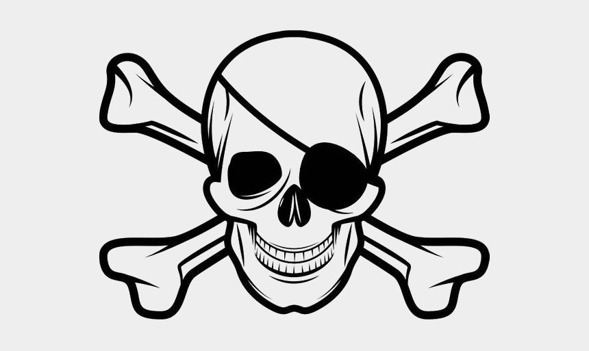 pirate skull clip art, Cartoons - Skull And Crossbones Eye Patch