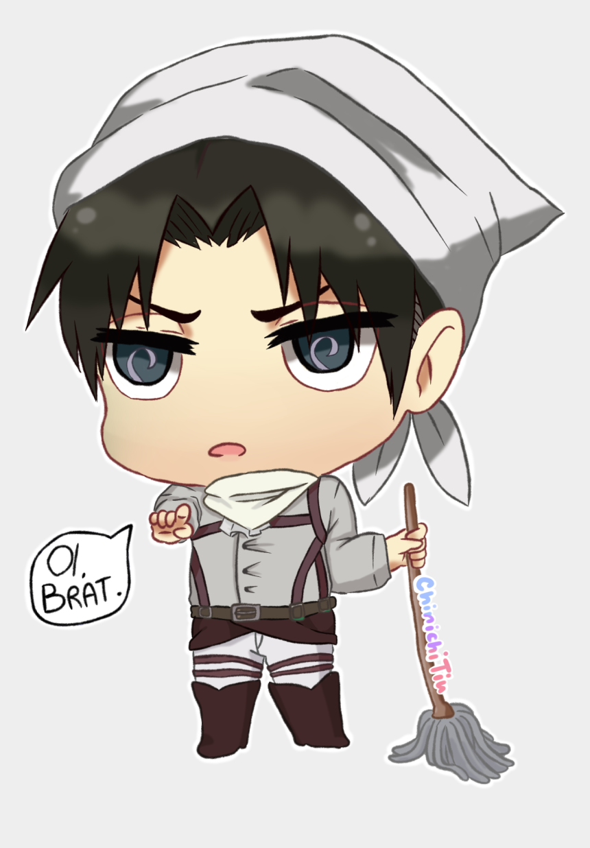 titan clip art, Cartoons - Hair,clip Art,animation,fictional Character - Chibi Levi Ackerman Cleaning