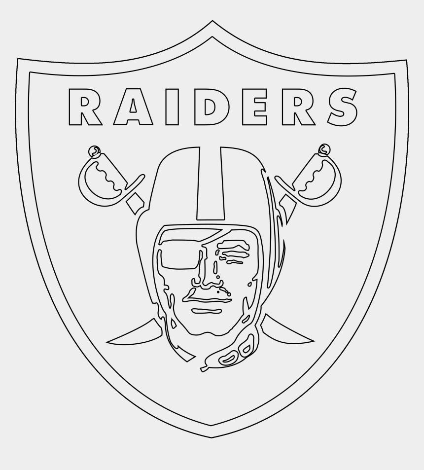 raiders clip art, Cartoons - Oakland Raiders Logo Outline - Raiders Logo Coloring Pages