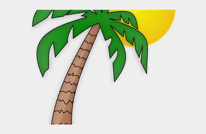 the sun clip art, Cartoons - Palm Tree And Sun