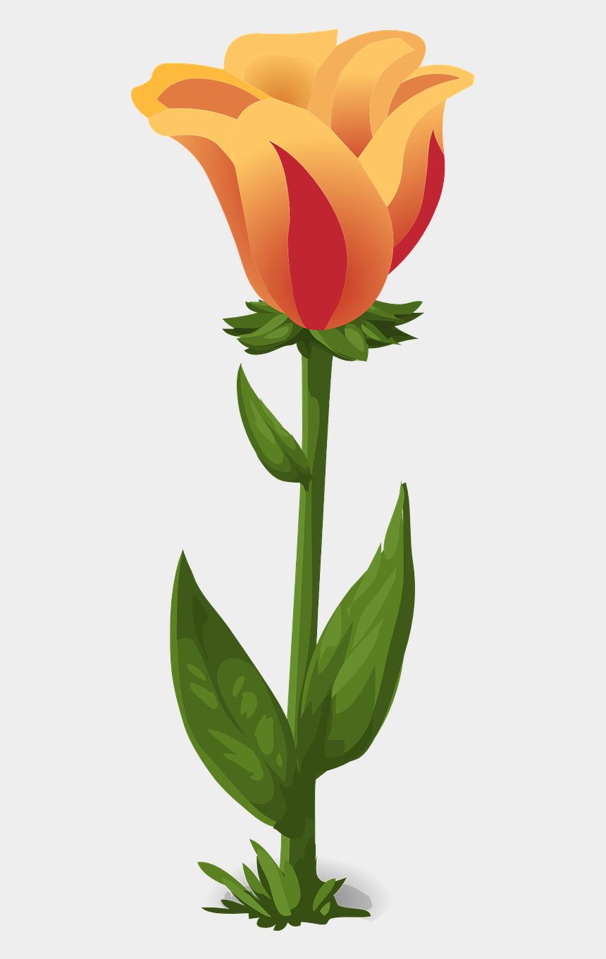 clipart tulips, Cartoons - Tulips Plants Flowers Green Png Image Clipart , Png - Gambar Daun Bunga Tulip