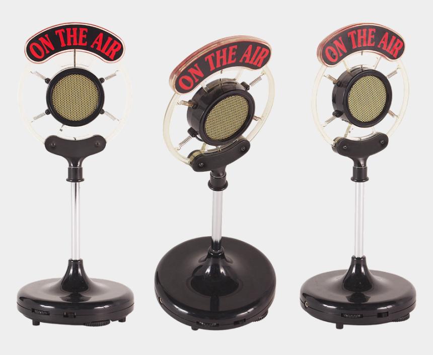 radio microphone clipart, Cartoons - Wireless Microphone, Radio, Microphone, Sound - Old School Radio Microphones