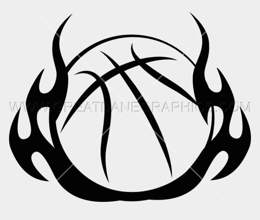 flame clipart, Cartoons - Flame Clipart Basketball - Basketball Ball Tribal Design