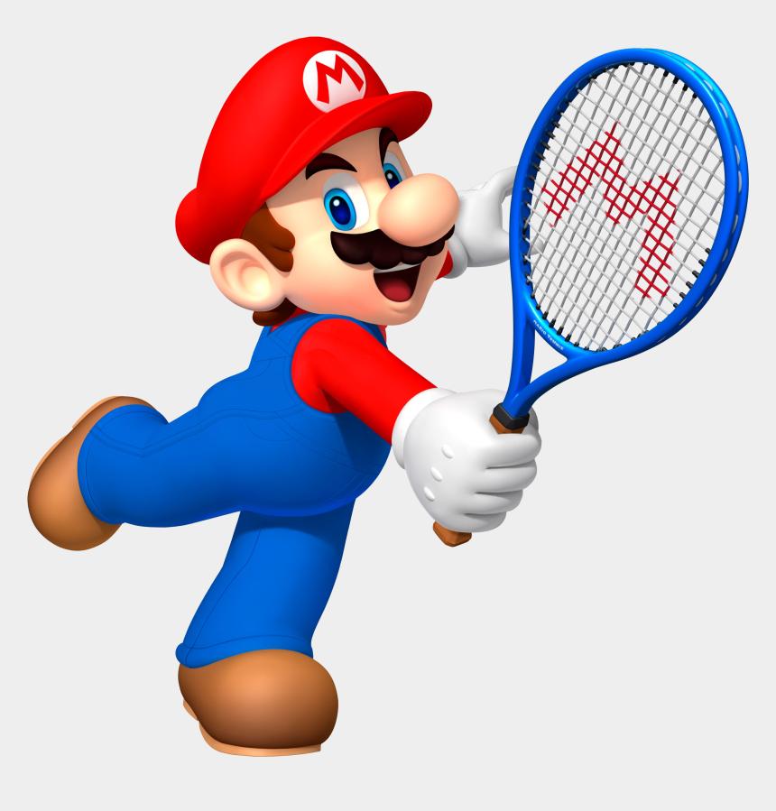 tennis clipart, Cartoons - Clipart Santa Tennis - Mario Tennis Open Mario