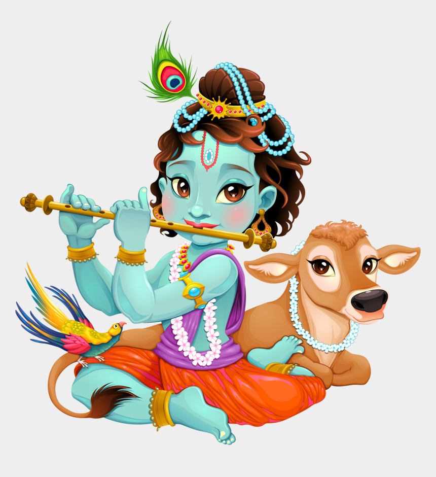 clipart png, Cartoons - Lord Krishna Clipart Png Image - Krishna Baby