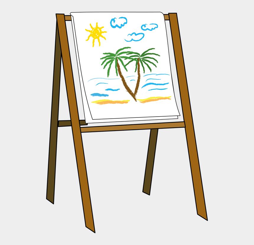 artist clipart, Cartoons - Art Easel Clipart - Easel Clipart