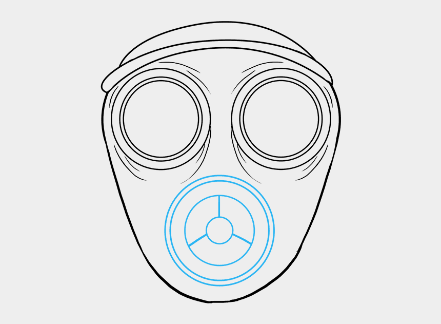 mask clipart, Cartoons - Poison Clipart Gas Mask - Draw A Gas Mask