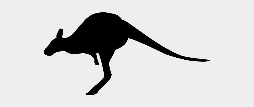 kangaroo clipart, Cartoons - Kangaroo - Silhouette - Animals Illustration - Silhouette