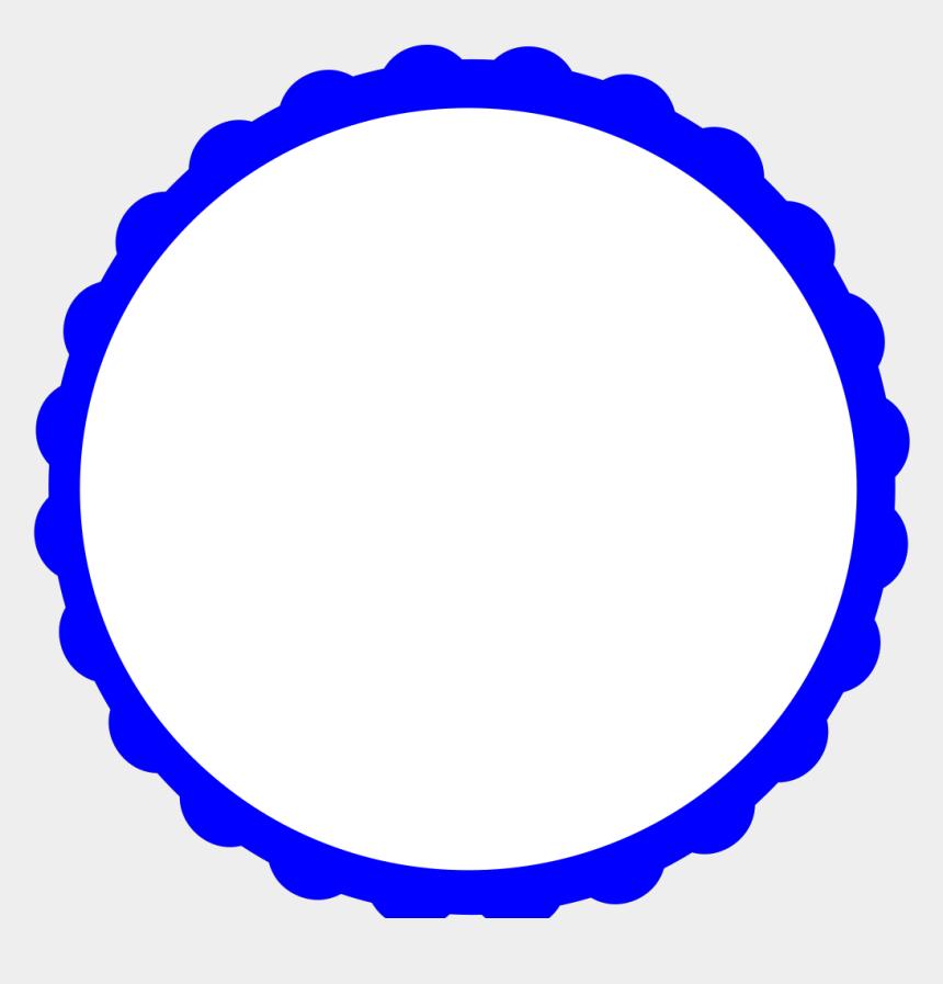 frame clipart, Cartoons - Blue Scallop Circle Frame Svg Clip Arts 594 X 600 Px - Blue Circle Frame Clip Art