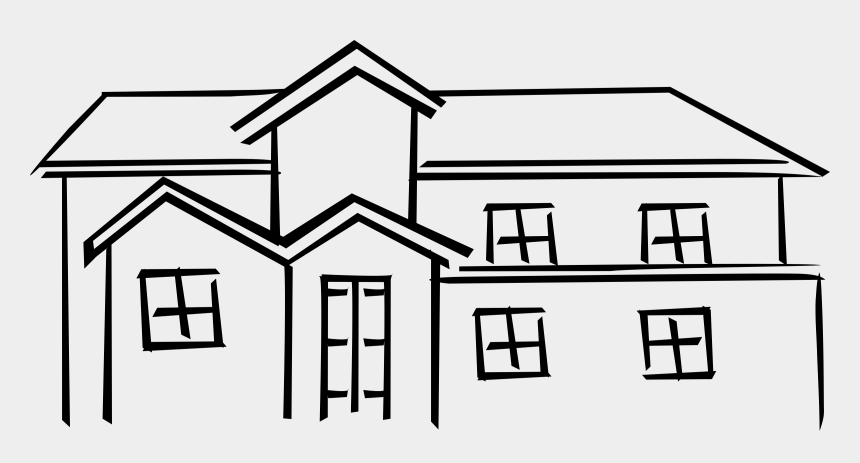 line clipart, Cartoons - Clipart Info - Old House Clipart