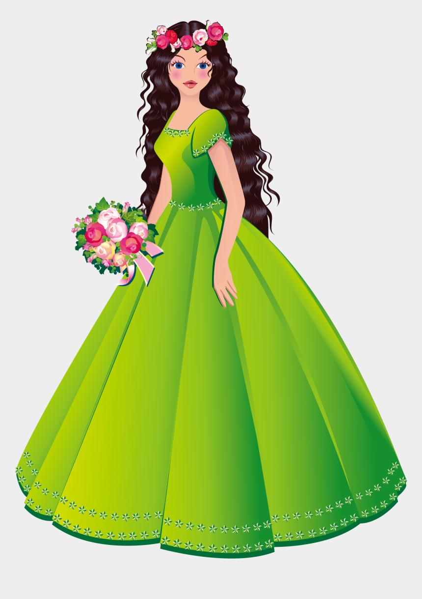 fashion clipart, Cartoons - Princess Royalty Free Stock Photography Clip Art - Princess With Dress Clipart