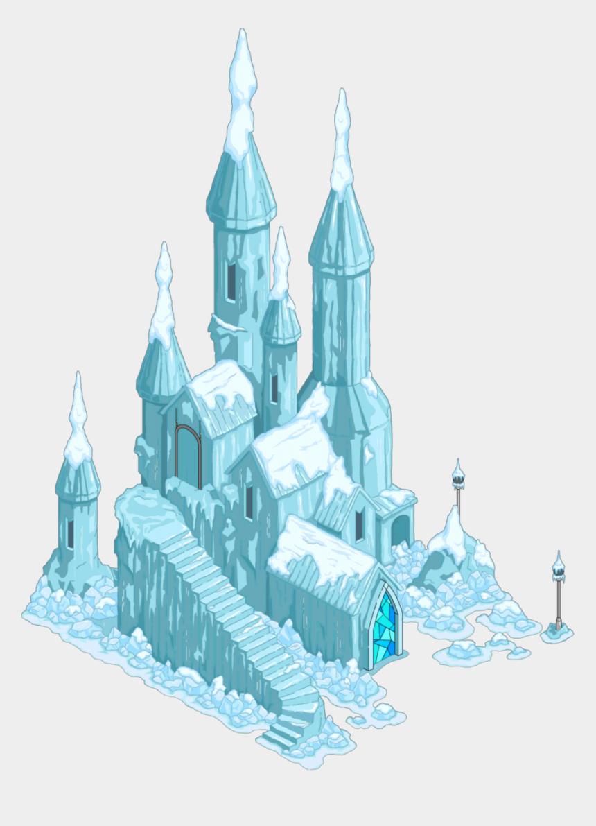 castle clipart, Cartoons - Clipart Snow Castle - Ice Castle Png