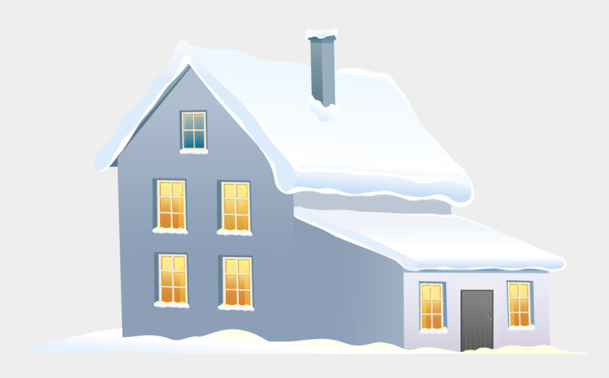 snow clipart, Cartoons - Christmas Decorated House Cliparts Png