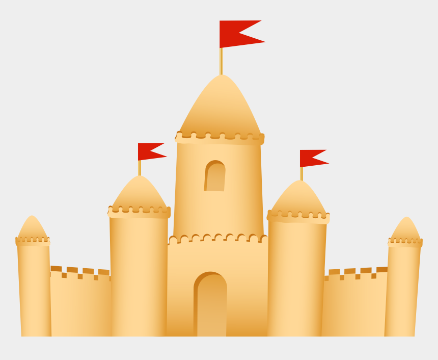 castle clipart, Cartoons - Castle Clipart Transparent Background - Sand Castle Clipart Png
