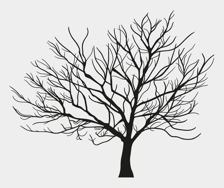 winter tree silhouette clip art, Cartoons - Tree Branch Winter - Free Vectors Winter Trees