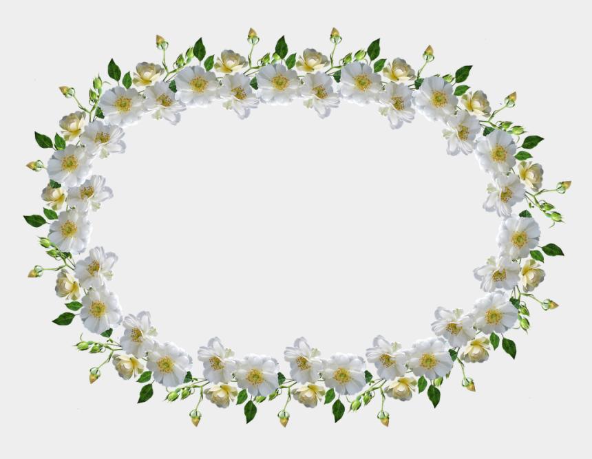 horizontal flower border clip art, Cartoons - Frame, Border, White Rose, Floral - Bingkai Bunga Mawar Putih