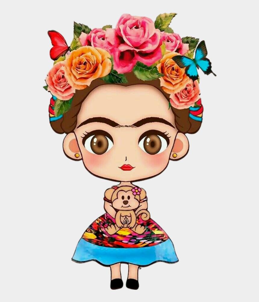 mexican girl clip art, Cartoons - #fridakahlo #girl #mexican #flowe#tumblr - Cute Frida Kahlo Drawings