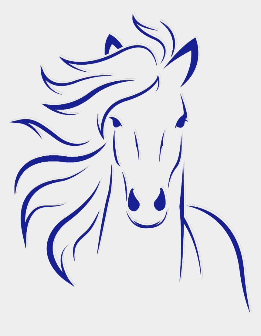 bucking horse silhouette clip art, Cartoons - Horse Head Clipart