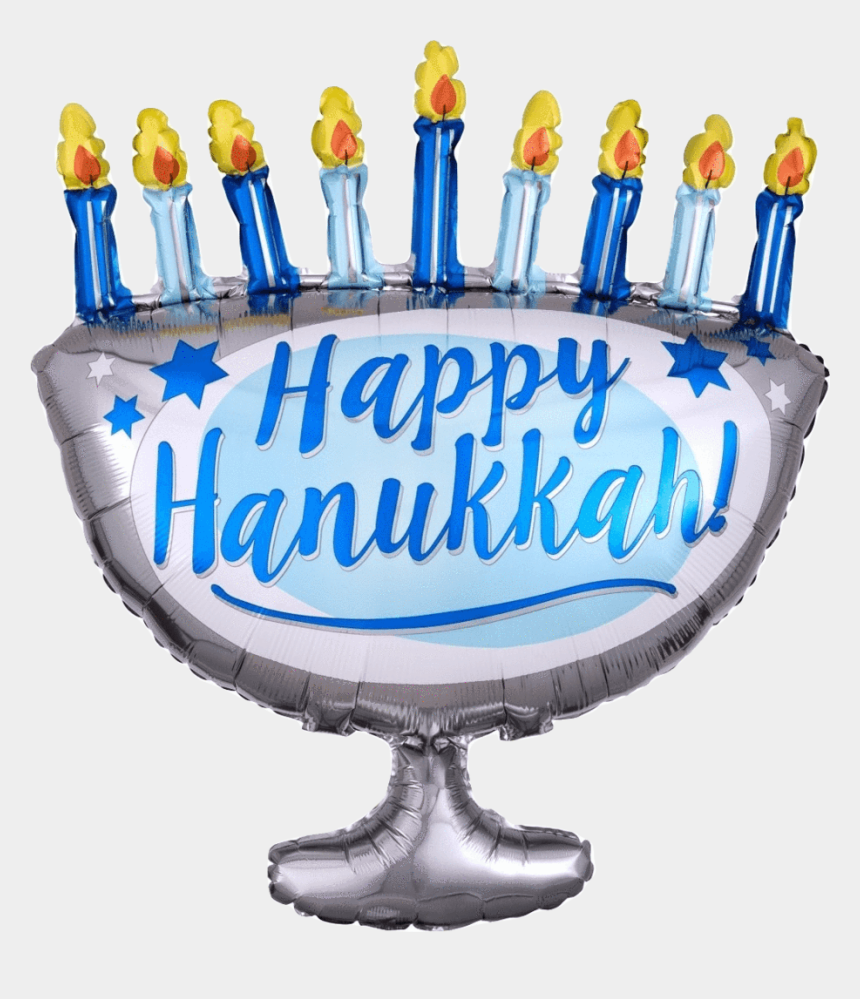 hanukkah menorah clip art, Cartoons - Happy Hanukkah Menorah Large - Birthday Cake