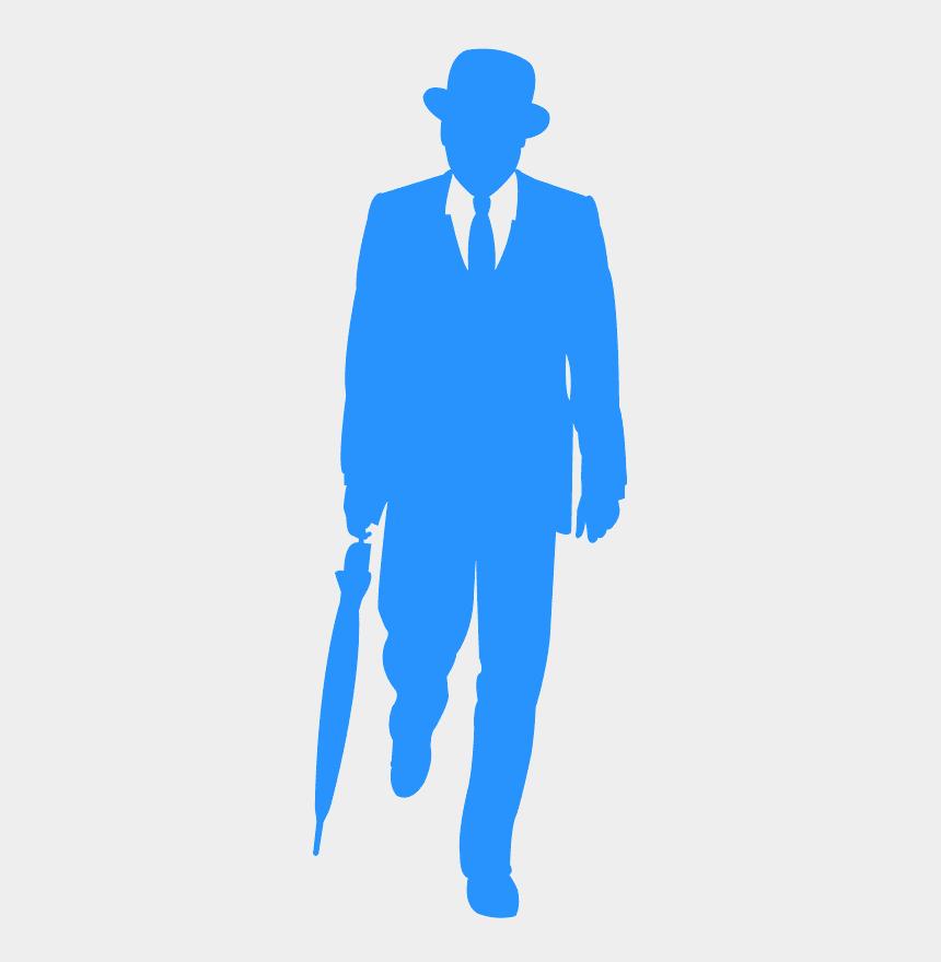man in suit silhouette clip art, Cartoons - Uomo In Giacca E Cravatta Disegno