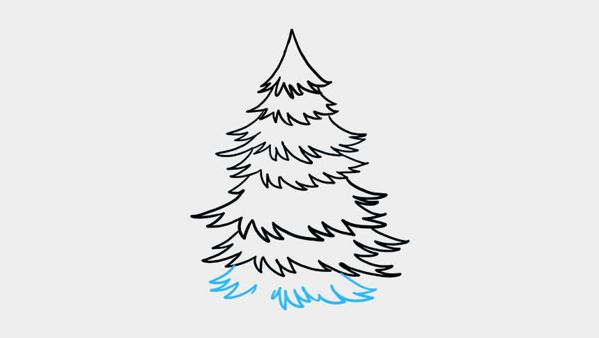 simple pine tree clip art, Cartoons - How To Draw Spruce - Pine Tree Drawing Easy