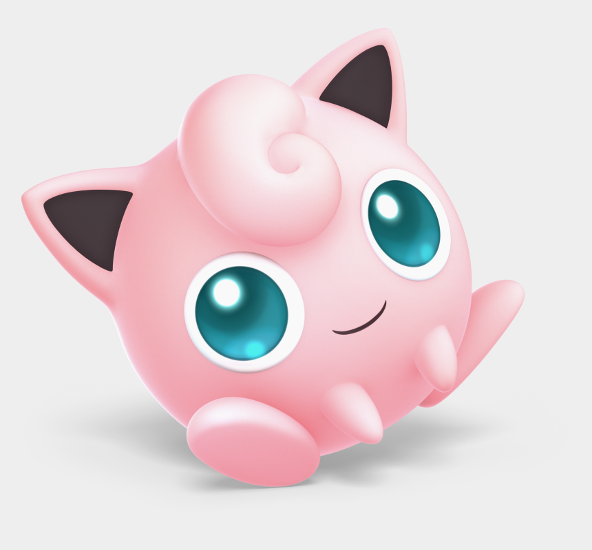 cat ear clip art, Cartoons - To Medium-sized Cats,clip Art,ear - Super Smash Bros Ultimate Characters Jigglypuff
