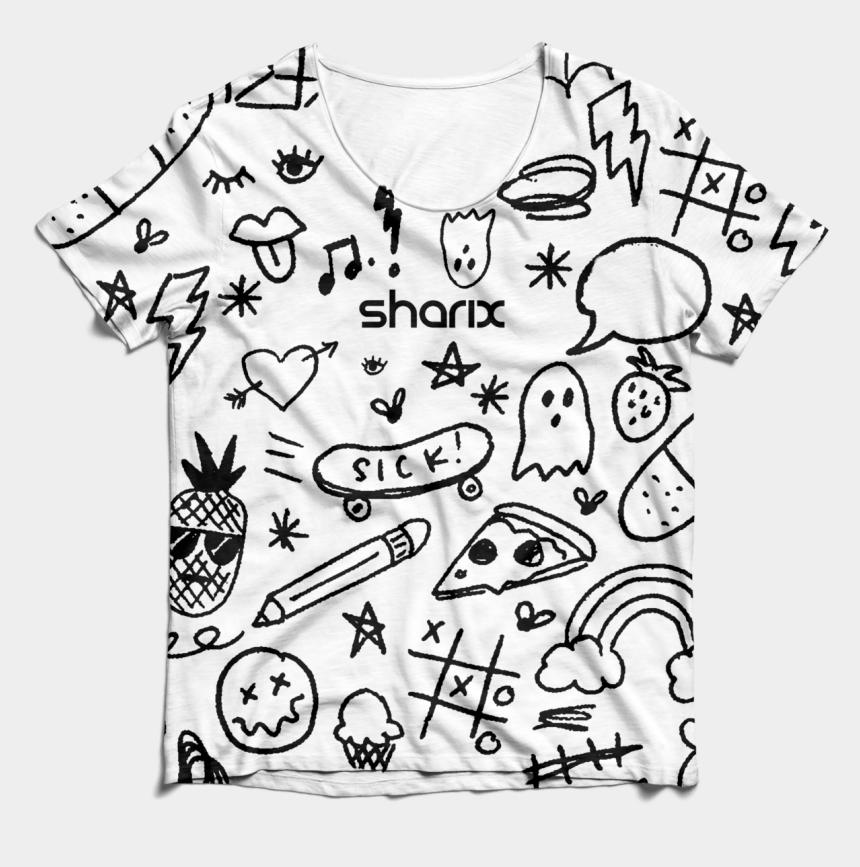 t shirt outline clip art, Cartoons - Deleuze White - Sketch