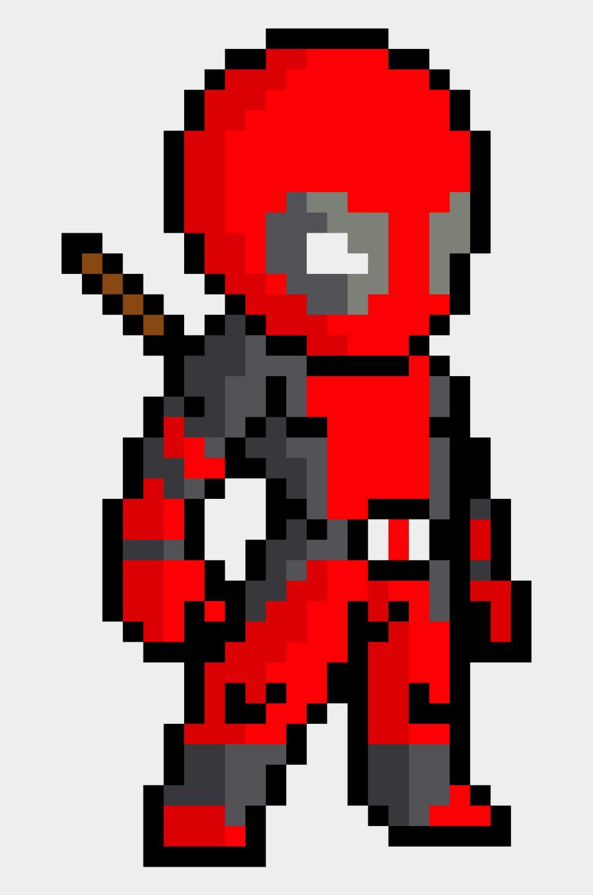 free minecraft clip art, Cartoons - Symbol Deadpool Art Minecraft Pixel Free Download Png - Pixel Art Spider Man