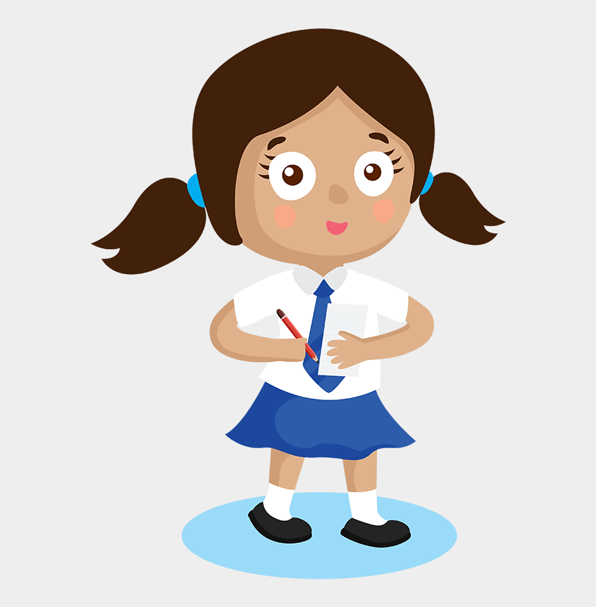 school girl clip art, Cartoons - Physics Secondary Primary School Pupil Girl - Slogan On Beti Bachao