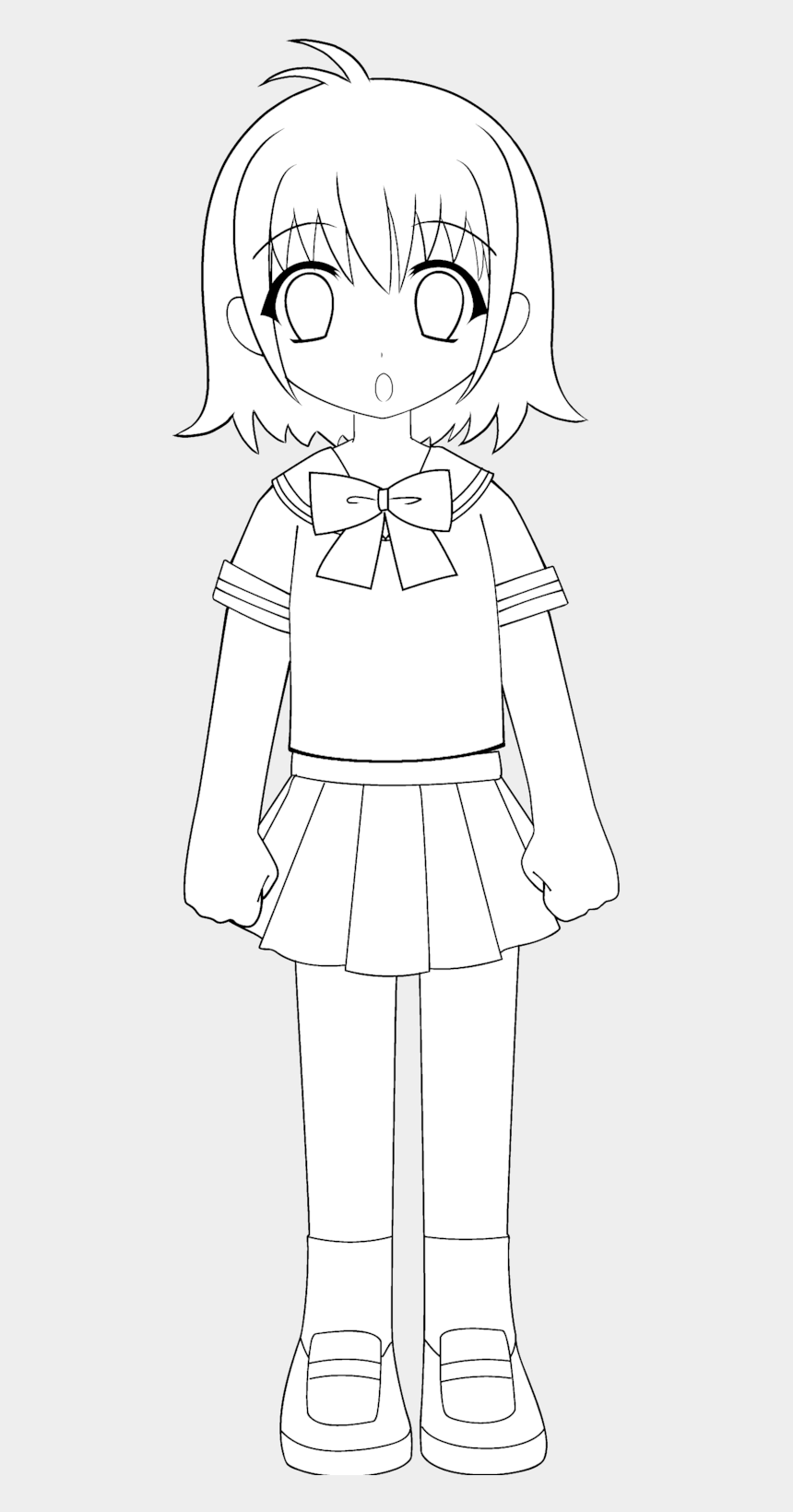 school girl clip art, Cartoons - Academic Drawing Little Girl - Little School Girl Drawing