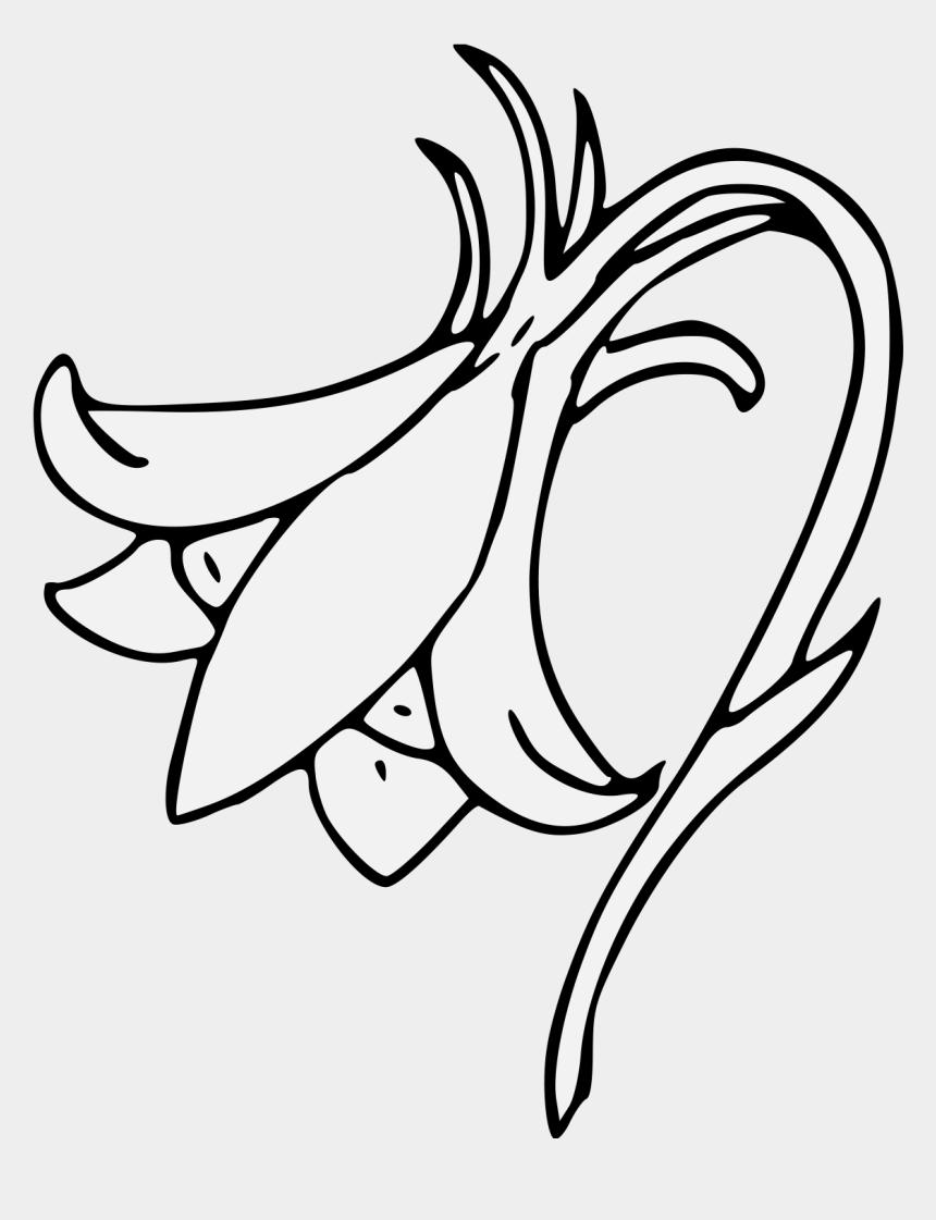 columbine flower clip art, Cartoons - Columbine - Line Art