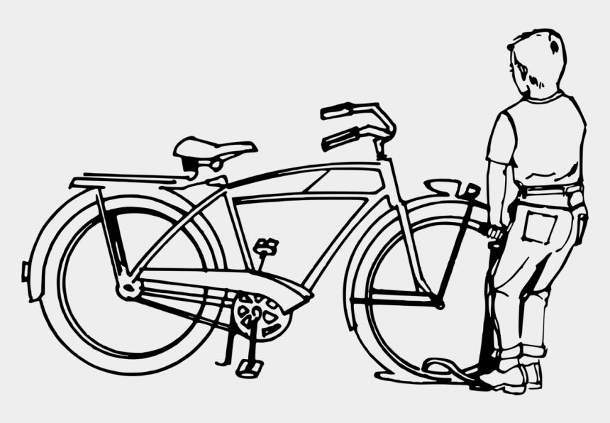bicycle wheel clip art, Cartoons - Bicycle,bicycle Wheel,shoe - Mending A Puncture On A Bicycle Drawing