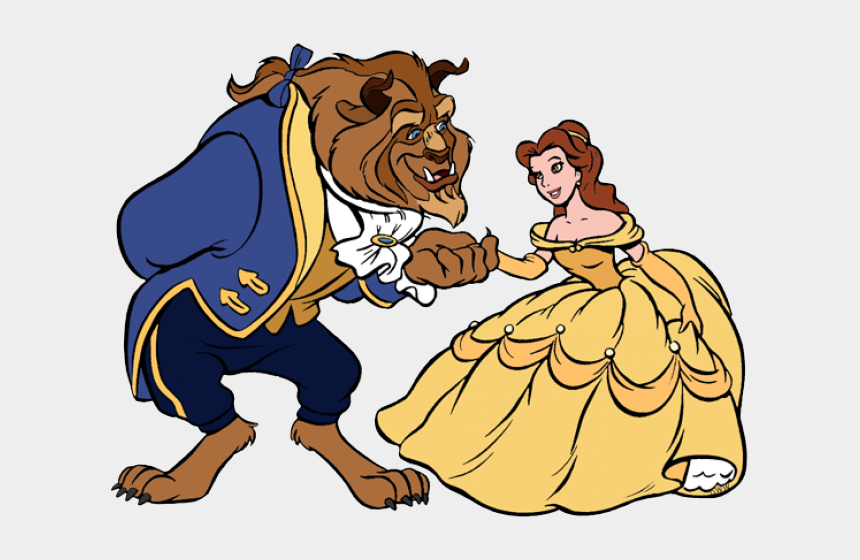 bowing clip art, Cartoons - Beast Bowing To Belle Clipart , Png Download - Disney Beauty And The Beast Clipart