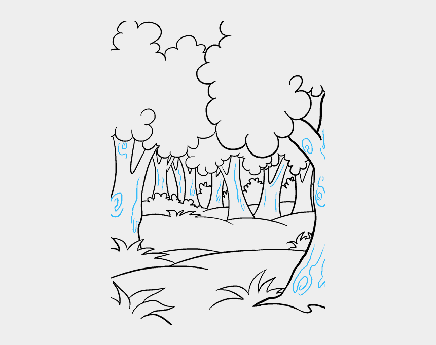 forest tree clip art, Cartoons - How To Draw Cartoon Forest - Forest Easy To Draw
